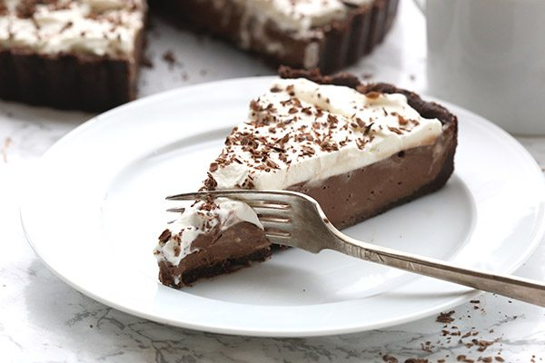 Low Carb No Bake Chocolate Mousse Tart Keto Dessert