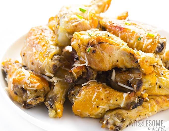 Easy Keto Crockpot Recipes for Garlic Parmesan Chicken Wings
