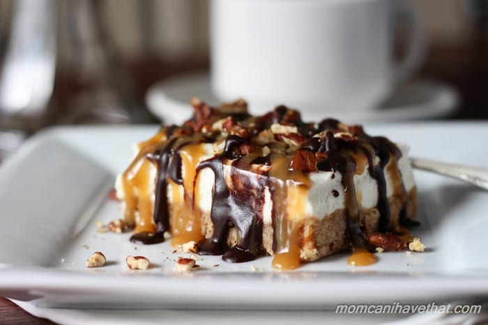 Keto Dessert Pecan Turtle Cheesecake Bars