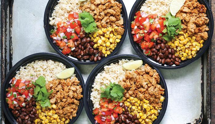 Chicken Meal Prep Burrito Bowl