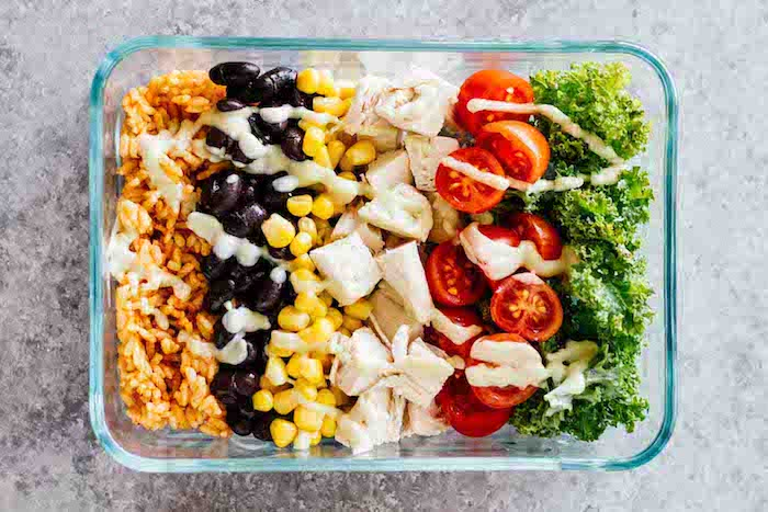 Chicken Meal Prep Recipes - Southwest Chicken Burrito Bowls