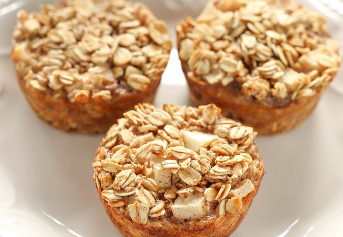 Apple Cinnamon Baked Oatmeal Cups Breakfast Meal Prep Recipes