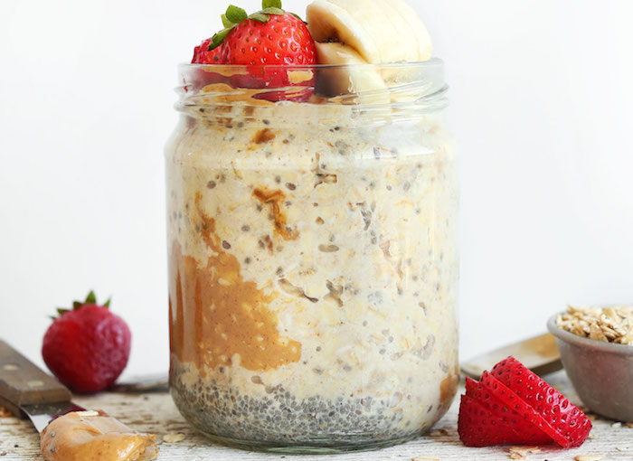 Peanut Butter Overnight Oats Meal Prep Recipe