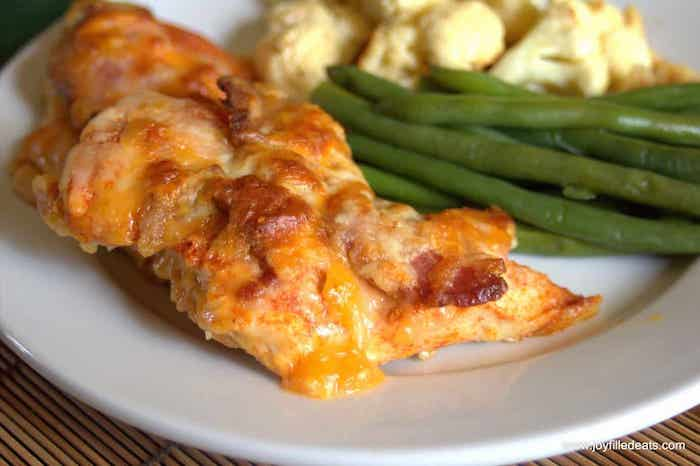 Cheesy bacon chicken keto meal prep recipe