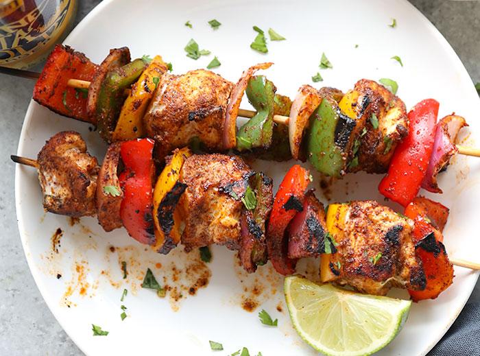 Chicken Fajita Kebabs Meal Prep Recipes