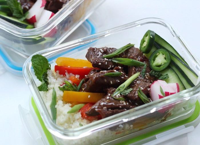 Korean beef bowl keto meal prep recipe