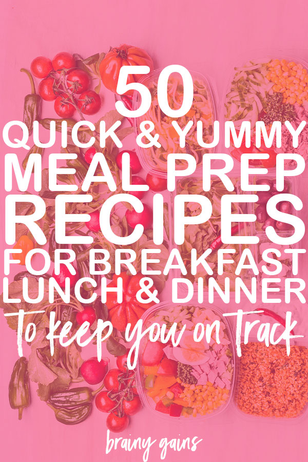 Don't have time to cook each night or just hate finding something to make for breakfast? All you need are these 50 healthy meal prep recipes for clean eating and you're set for the week.
