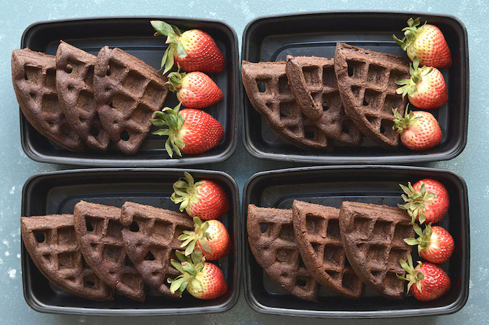 Chocolate Almond Flour Waffles Meal Prep Recipes