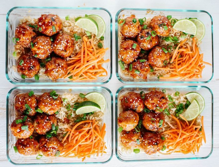 Sriracha Meatballs Meal Prep Recipes