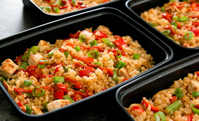 Sriracha Cauliflower Fried Rice Keto Meal Prep Recipe