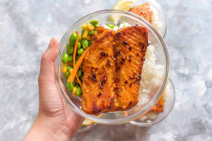 Sweet chili salmon keto meal prep recipe
