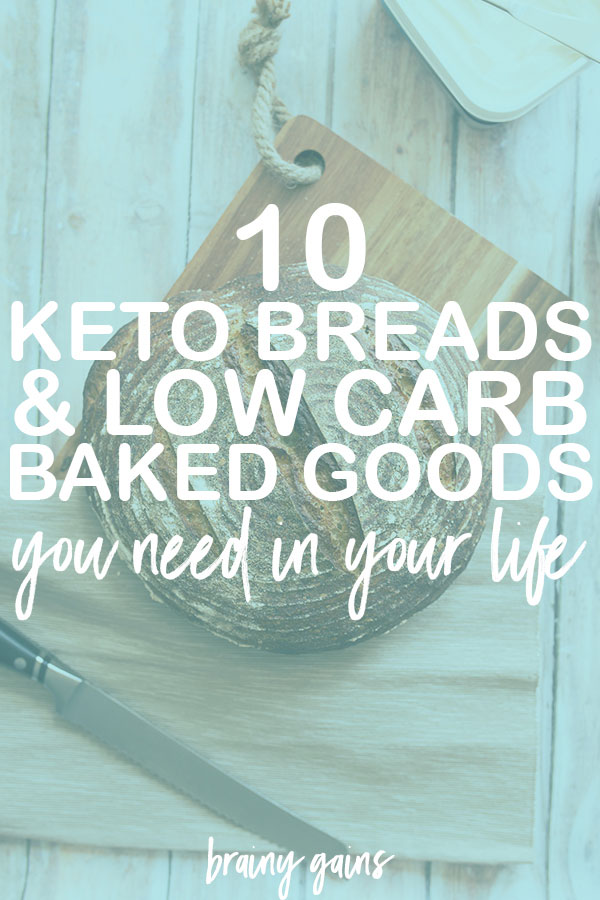 When we think of carbs, our minds immediately turn to bread and pasta. And what's the first rule of keto club? You have to turn those delicious carbs away. Fortunately for you, there are SO MANY keto bread and baked good recipes floating around out there, you can actually survive this round of keto. I've compiled 10 of THE BEST keto bread recipes and low carb keto baked goods to help you curb those carb cravings.