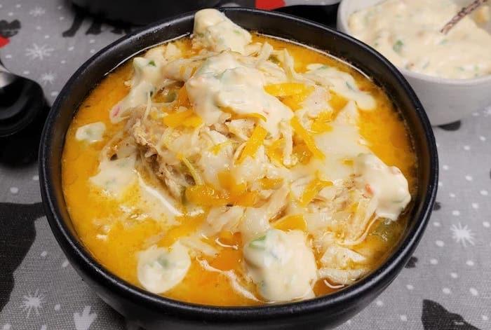 Keto Instant Pot Chicken Jalapeno Popper Soup
