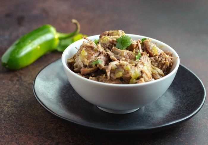 Keto Instant Pot Chile Verde Pulled Pork