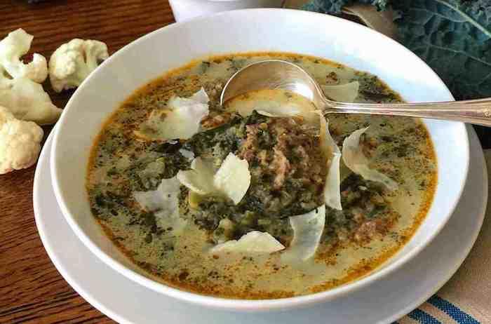 Keto Instant Pot Italian Sausage Kale Soup