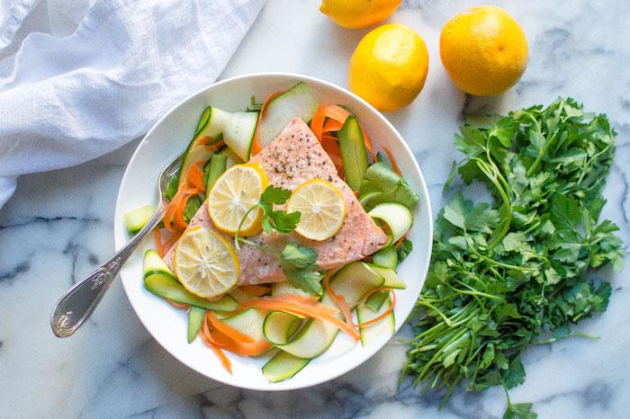 Keto Instant Pot Lemon Garlic Salmon