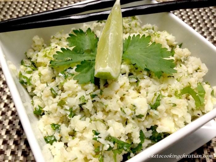 Keto Instant Pot Lime Cilantro Cauliflower Rice