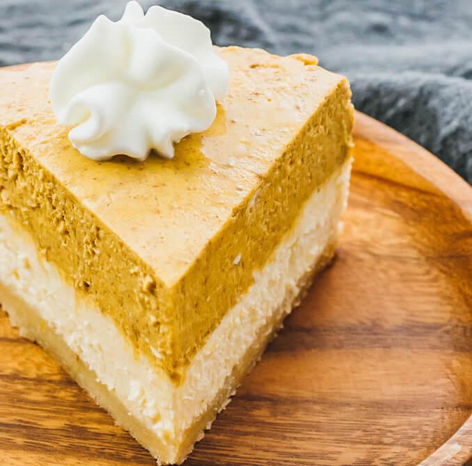 Keto Instant Pot Pumpkin Cheesecake