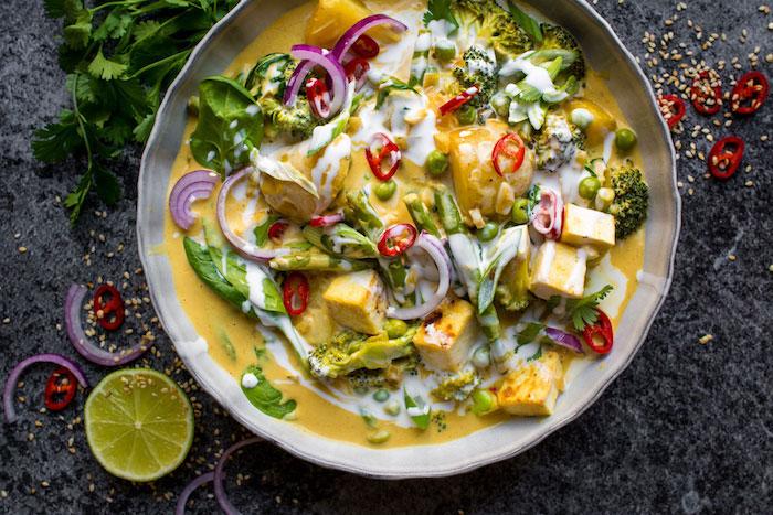 Vegan Dinner Recipes Red Thai Coconut Curry
