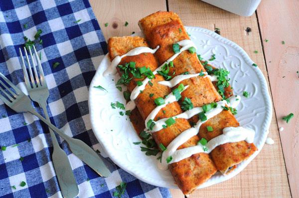 Veggie and Black Bean Enchiladas Vegan Dinner Recipes