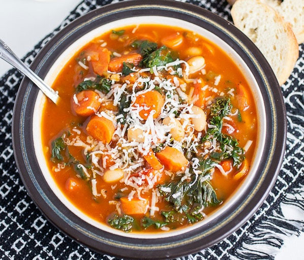 Cannellini Bean, Carrot, and Kale Healthy Soup Recipes