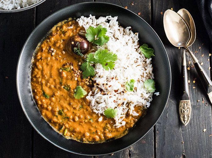 Creamy Coconut Lentil Curry Vegan Dinner Recipes