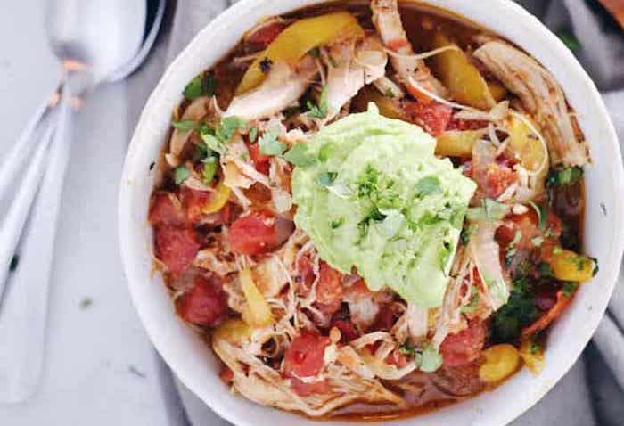 Crockpot Chicken Enchilada Soup Paleo Meal Prep