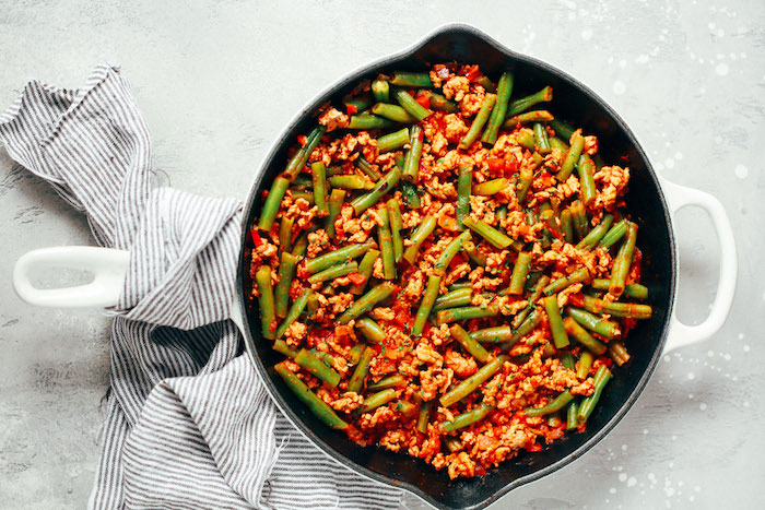 Ground Turkey Skillet with Green Beans Paleo Meal Prep Recipe