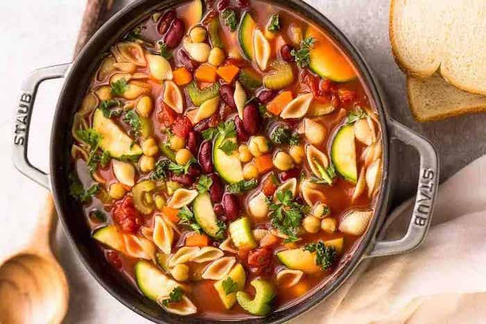 Classic Homemade Minestrone Healthy Soup Recipes