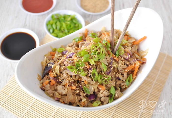 Paleo Meal Prep Egg Roll in a Bowl