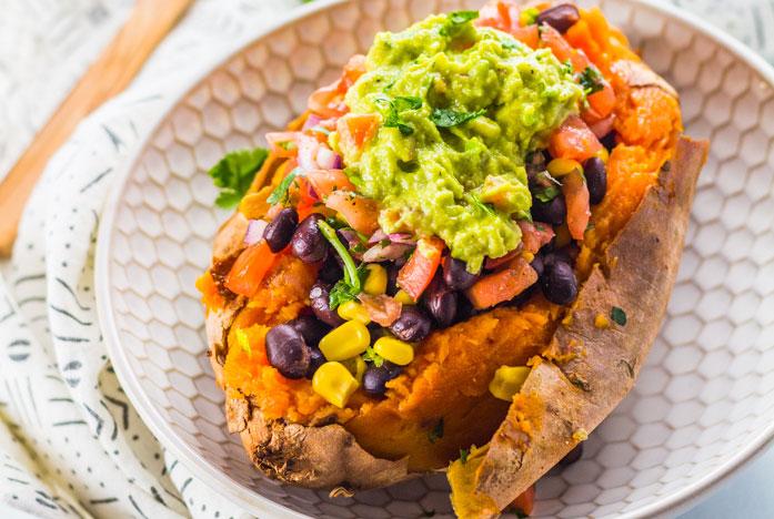 Stuffed Sweet Potatoes Vegan Dinner Recipes
