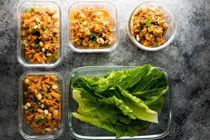 Thai Turkey Paleo Meal Prep Lettuce Wraps