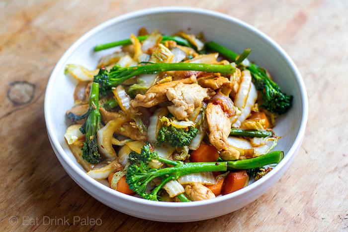 Chicken Cabbage Stir Fry Paleo Meal Prep