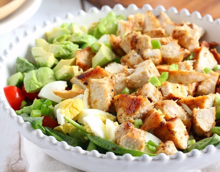 Chicken Cobb Salad with Buffalo Ranch Paleo Meal Prep Recipe