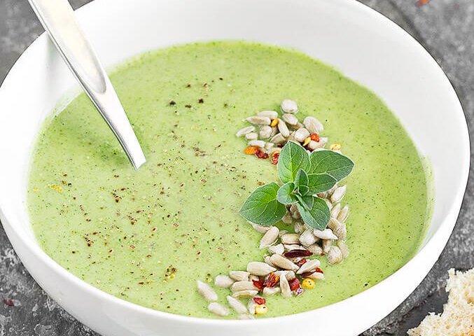 Creamy Broccoli White Bean Healthy Soup Recipes