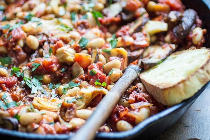 Tuscan White Bean Skillet Vegetarian Dinner Recipes
