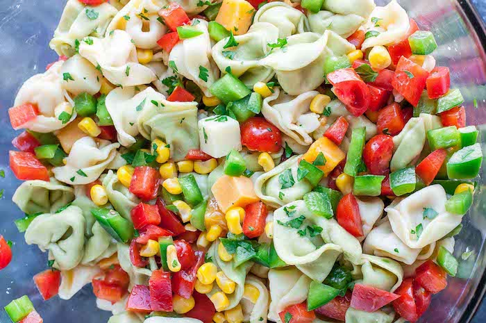 Garden Veggie Tortellini Pasta Salad Vegetarian Dinner Recipes