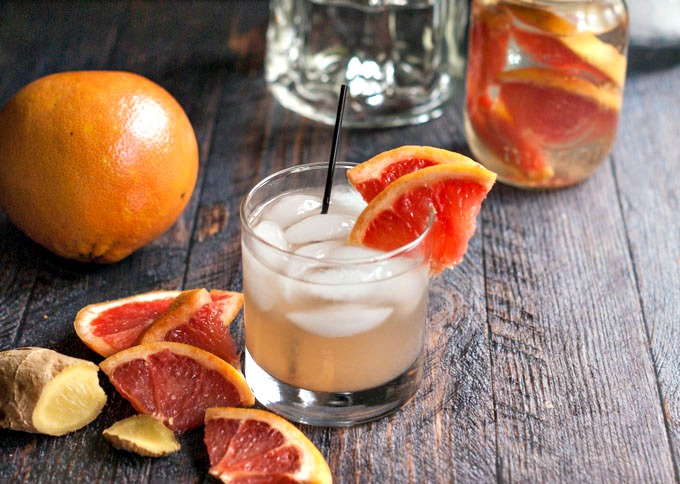 Grapefruit Ginger Fizz Low Carb Alcoholic Drinks
