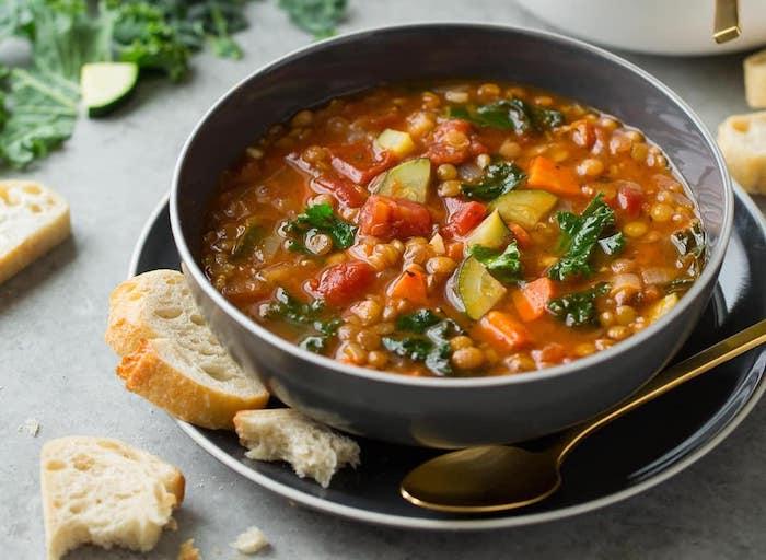 Italian Vegetable Lentil Healthy Soup Recipes