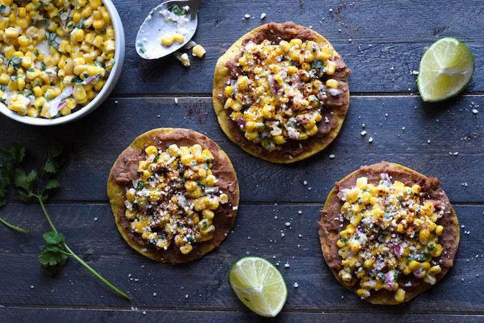 Mexican Street Corn Tostadas Vegetarian Dinner Recipes