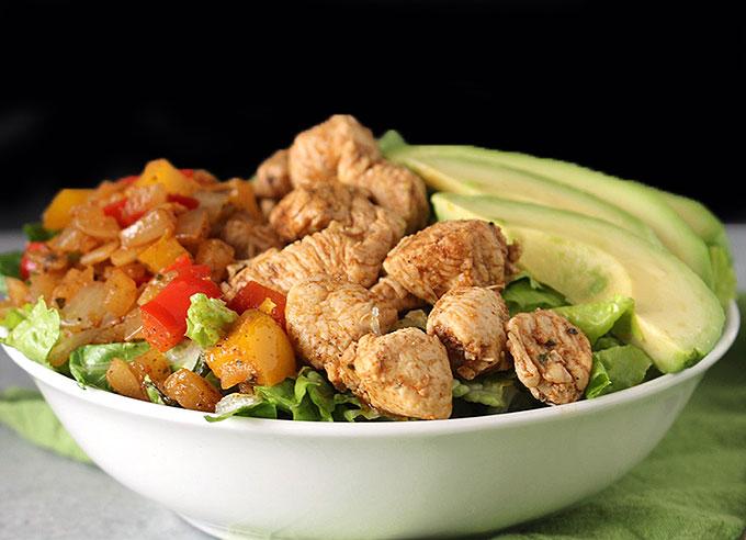 Paleo Meal Prep Chicken Fajita Bowl