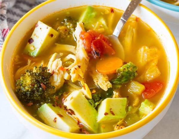 Southwest Chicken Detox Soup Paleo Meal Prep