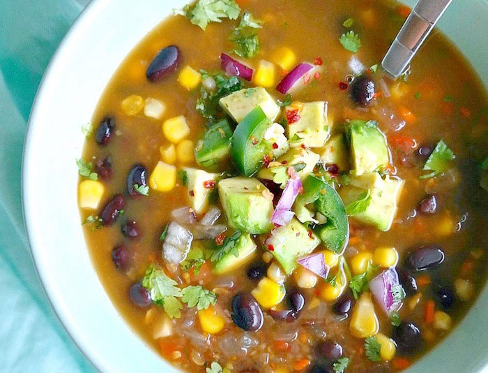 Spicy Vegan Black Bean Healthy Soup Recipes