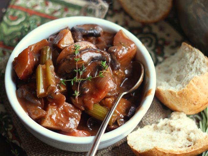 Vegan Dinner Recipes Portobello Beef(less) Stew