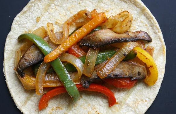 Vegetarian Dinner Ideas - Portobello Fajitas