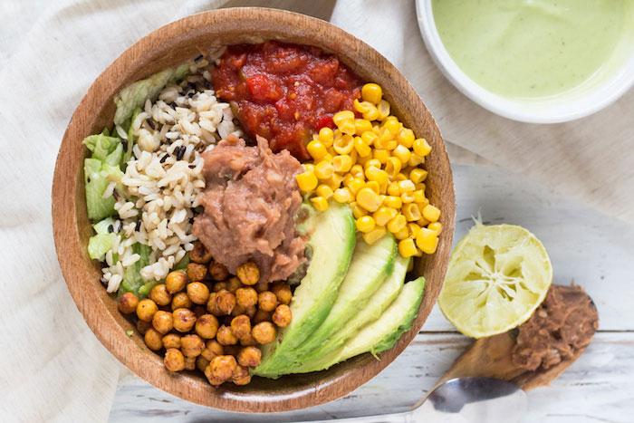 Wild Rice Burrito Bowls Vegan Dinner Recipes