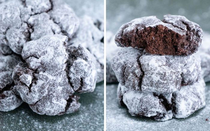 Low Carb Chocolate Crinkle Keto Christmas Cookies