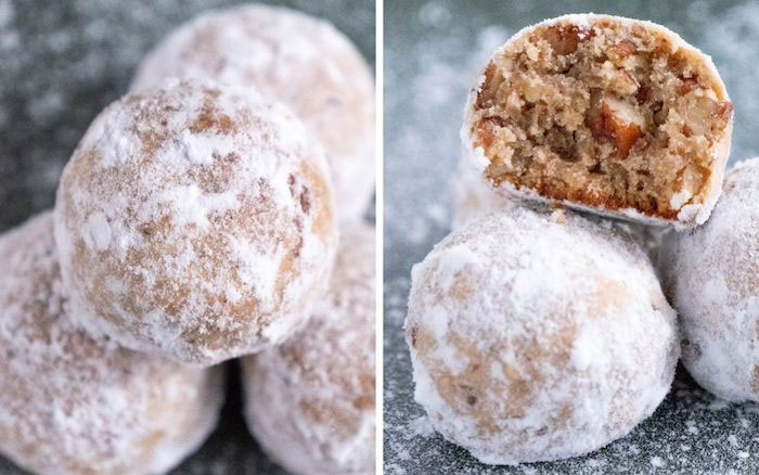 Low Carb Pecan Snowball Keto Christmas Cookies