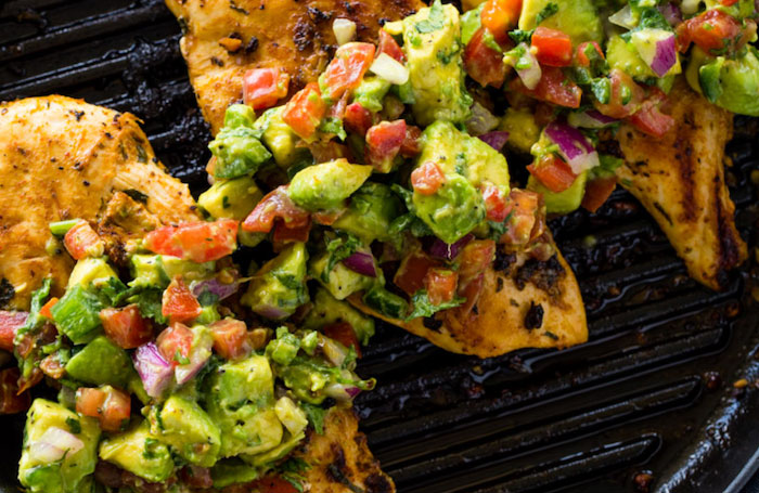 Grilled Chicken Keto Recipe with Avocado Salsa