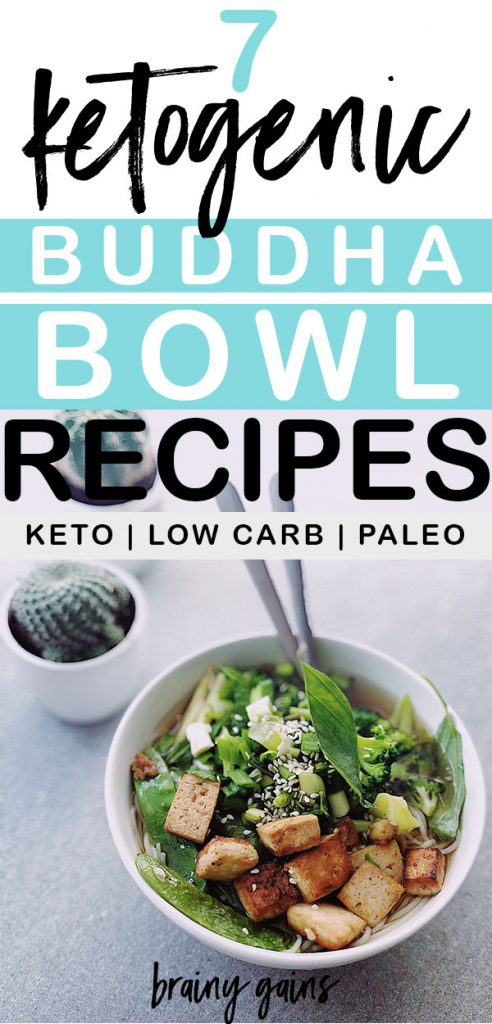 Get these 7 Keto Buddha Bowl receipes. Pin it now for later!